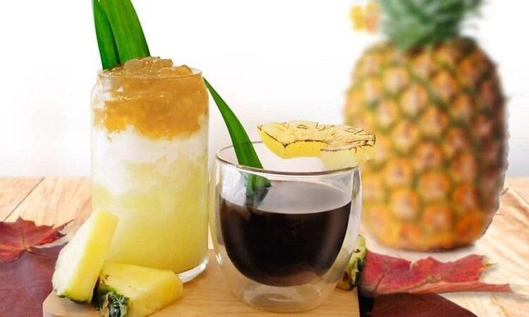 Приготовление кофе с ананасом